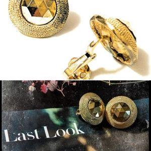 Crown Trifari Art Deco Clip-on Earrings